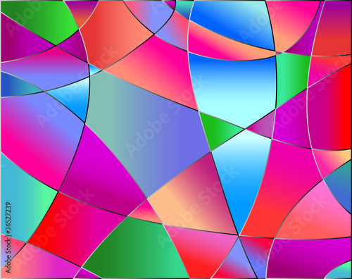 Stained glass texture, red tone, background vector
