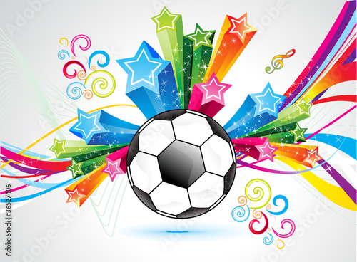 abstract colorful football explode background