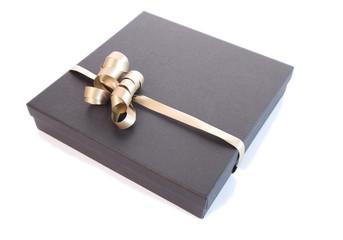 Luxury gift box isolated on white