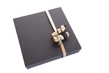 Luxury gift box with a golden bow