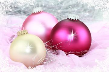 Weihnachtsschmuck rosa, gold, pink
