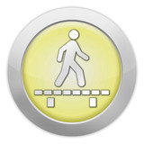 "Light Colored Icon (Yellow) ""Walk On Boardwalk"""