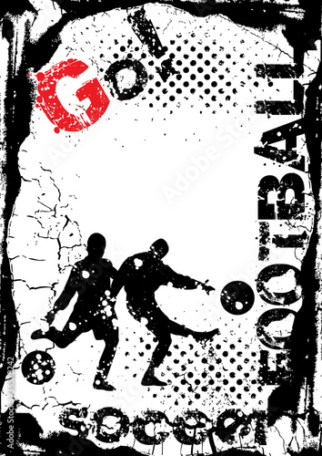 grunge soccer background, street design