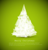 Fototapety Vector modern card with abstract christmas tree
