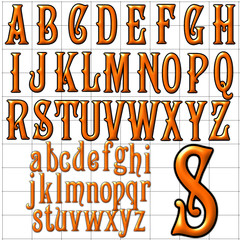 abc alphabet background campanile design