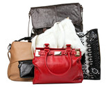 Various bags isolated over white, with clipping path