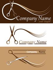 Friseur - Firmenzeichen Set