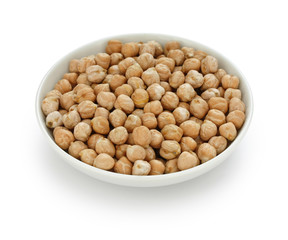 chana, chickpea, garbanzo bean in a small dish