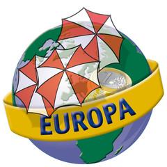 Europa_Welt_Erde_Globus_global_handel_Euro_Rettungsschirm