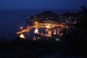 Panoramica Giglio Porto in notturna