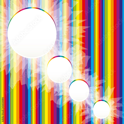 Abstract Rainbow Background for Business Brochure