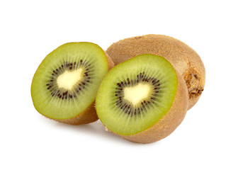 Close up of a kiwi isolated