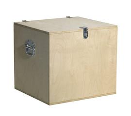 cubic wooden box