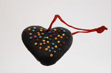 Schokoladenherz mit Schlaufe