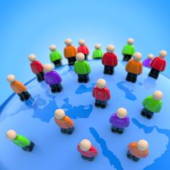 Internationales Netzwerk - Social Media