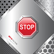 Abstract background with stop sign