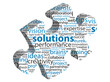 """SOLUTIONS"" Tag Cloud (ideas jigsaw piece questions and answers)"