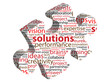 SOLUTIONS Tag Cloud (jigsaw piece ideas questions and answers)