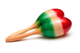 photo of maracas on white background