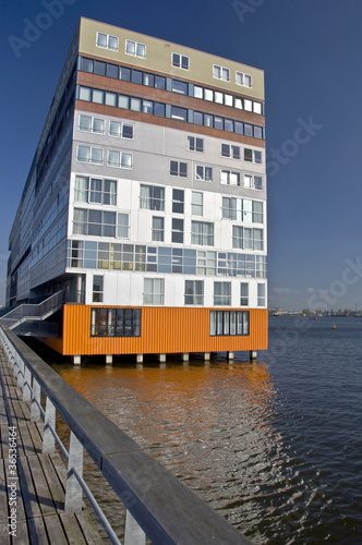 Modern architecture of Amsterdam. Netherlands.