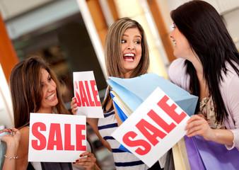 Women on shopping sale