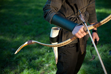 Arrow, Bow And Drinking Horn