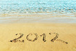 "New Year concept - the inscription ""2012"" on a beach sand"