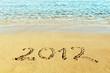 """New Year concept - the inscription """"2012"""" on a beach sand"""