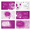 business card templates - magenta