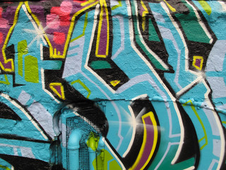 A Detail of New York City Graffiti