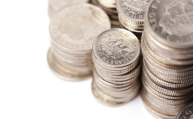 piles of silver coins; financial growth