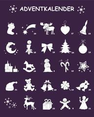 Adventkalender mit Zahlen