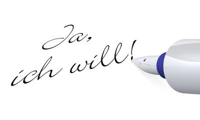 Stift Konzept - Ja, ich will!