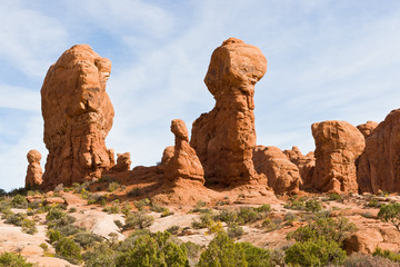 Natural sculptures in Arches National Park, Elephants.