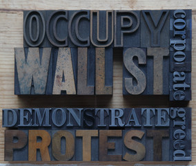 words associated with Occupy Wall Street