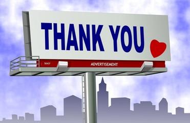 Thank you billboard