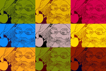 santa christmas background pop art