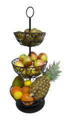 etagere with fruits