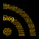 BLOG Tag Cloud (rss icon web internet button social networking)