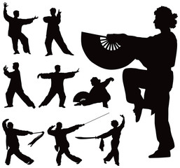 Tai Chi silhouettes collection