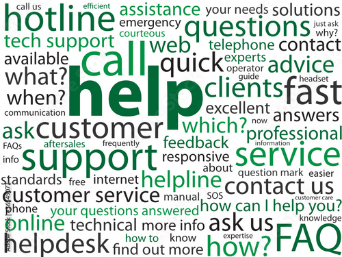 """HELP"" Tag Cloud (hotline sos urgent support customer service)"