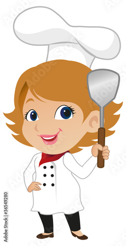 Cute Female Chef