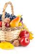 autumnal fruit in basket