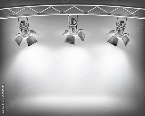 Wall with lights. Vector illustration.