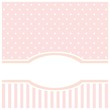 Sweet pink card or invitation for birthday or baby show