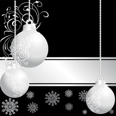 three  silver  christmas balls 4