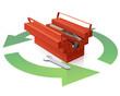 Recyclage de boite à outils et ses outils (reflet)