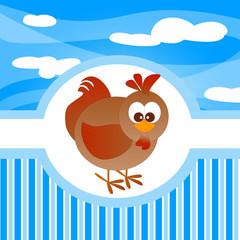 animali della fattoria, gallina, gallo