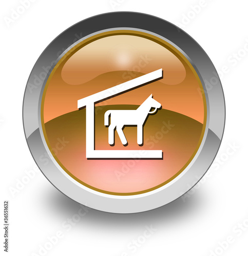 "Orange Glossy Pictogram ""Stable"""