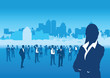 business people cityscape background